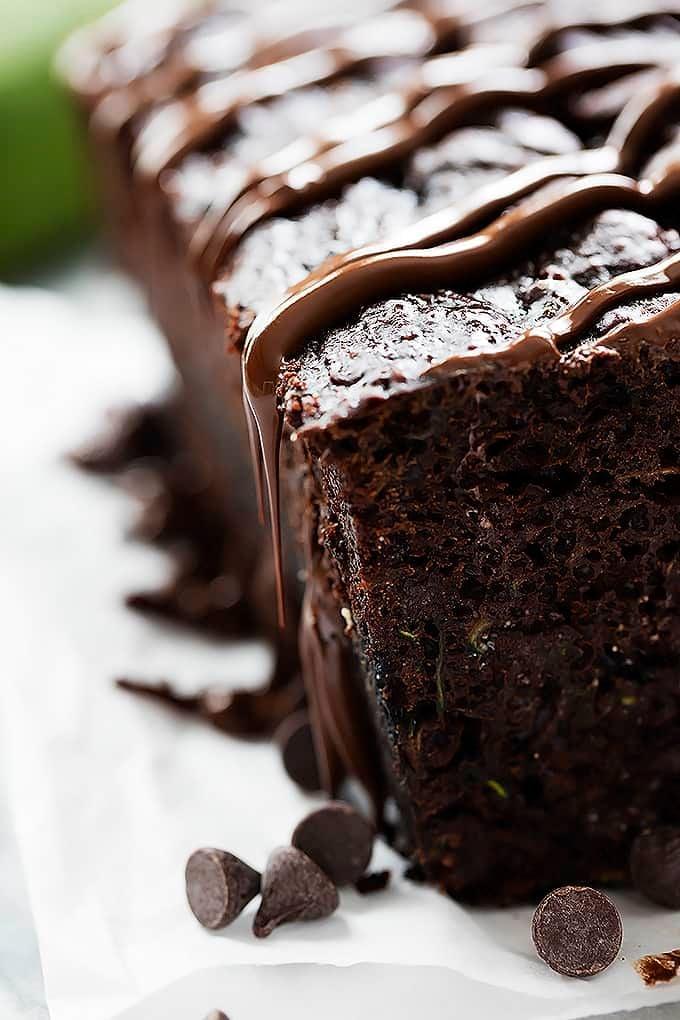 Triple Chocolate Zucchini Bread | Creme de la Crumb