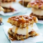 Snickerdoodle Waffle Ice Cream Sandwiches
