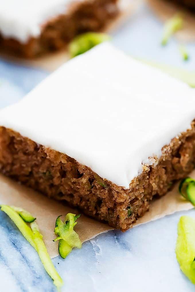 Zucchini Sheet Cake | Creme de la Crumb