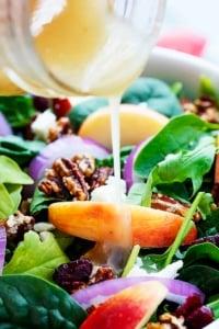 Apple Pecan Salad with Maple Vinaigrette | Creme de la Crumb