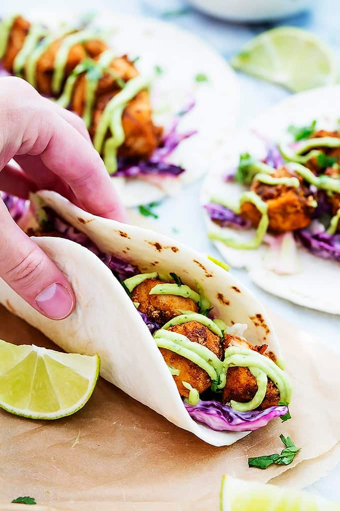 Baja fish tacos creme de la crumb for White fish tacos