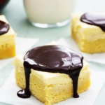Boston Cream Pie Bars | Creme de la Crumb
