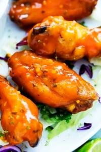 Spicy Honey Lime Chicken Wings | Creme de la Crumb