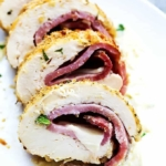 Chicken Cordon Bleu with Dijon Cream Sauce