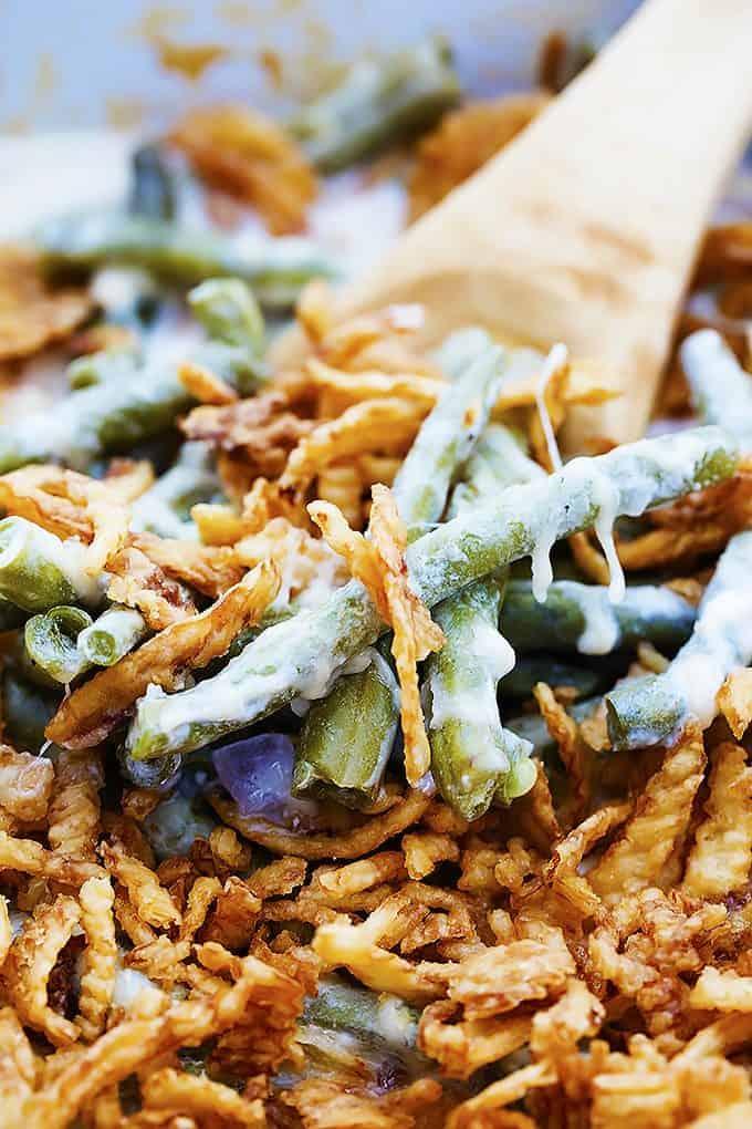 Slow Cooker Green Bean Casserole | Creme de la Crumb