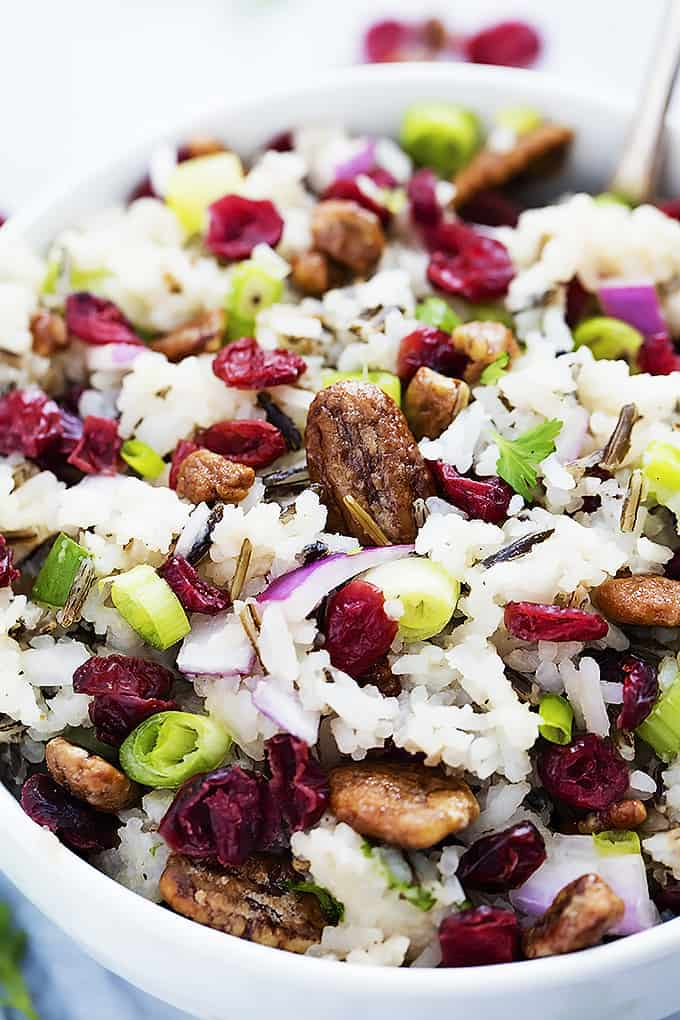Cranberry Pecan Wild Rice Salad