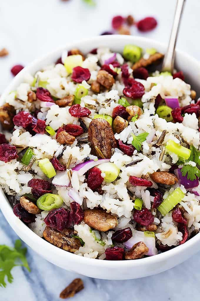 Cranberry Pecan Wild Rice Salad   Creme de la Crumb
