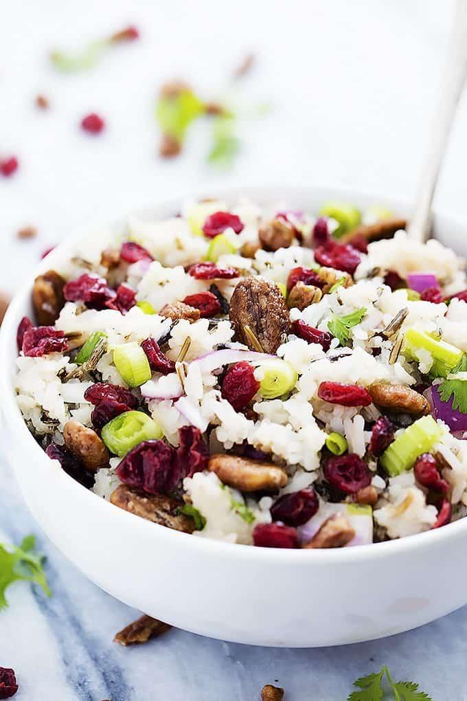 Cranberry Pecan Wild Rice Salad | Creme de la Crumb