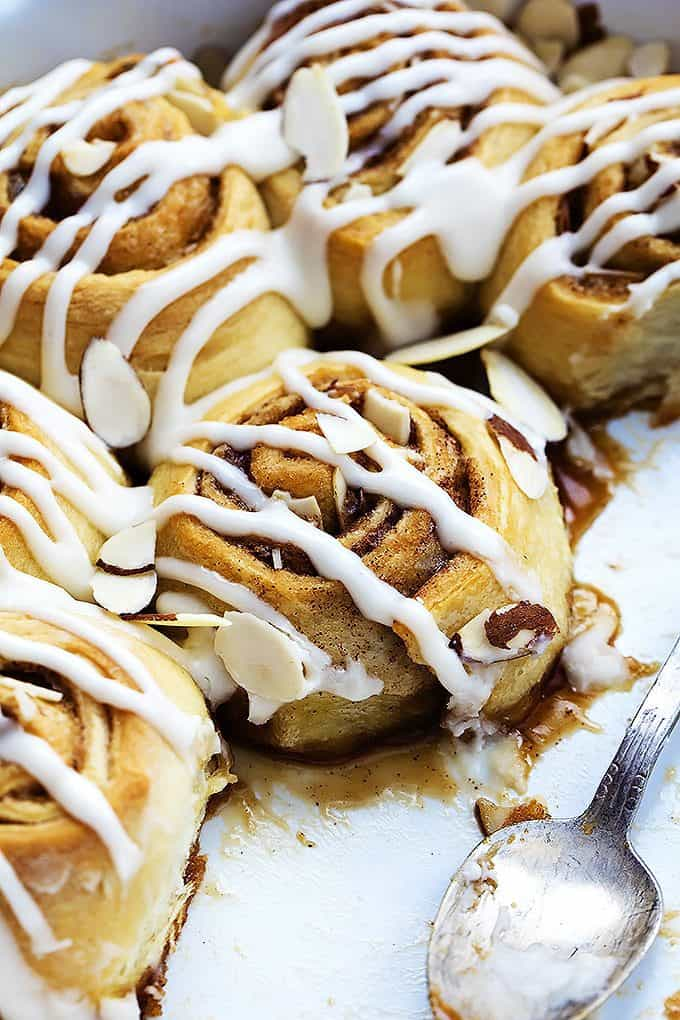 Flaky Almond Cinnamon Buns | Creme de la Crumb