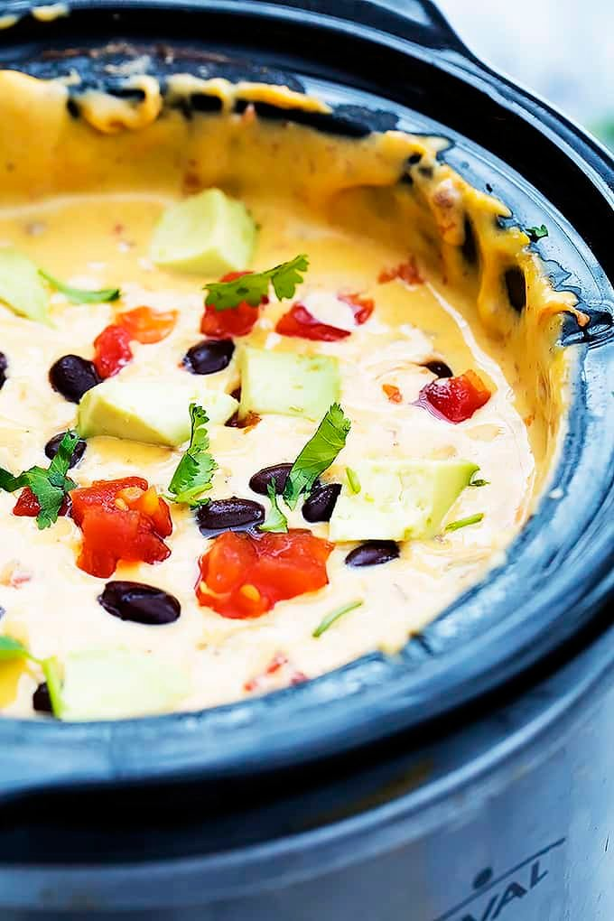 Slow Cooker Taco Queso Dip