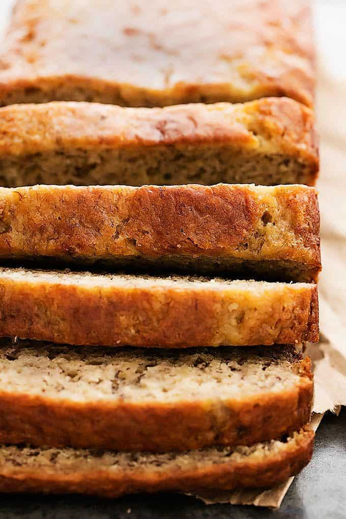 ... perfect Greek yogurt banana bread! Happy Sunday to you from me