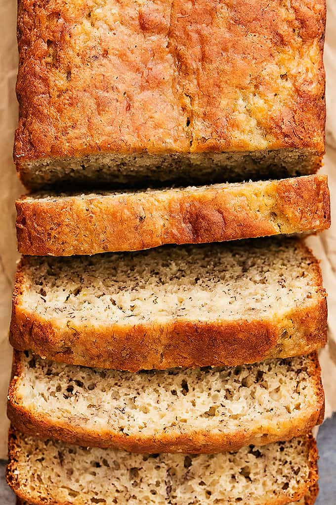 Greek Yogurt Banana Bread - Creme De La Crumb