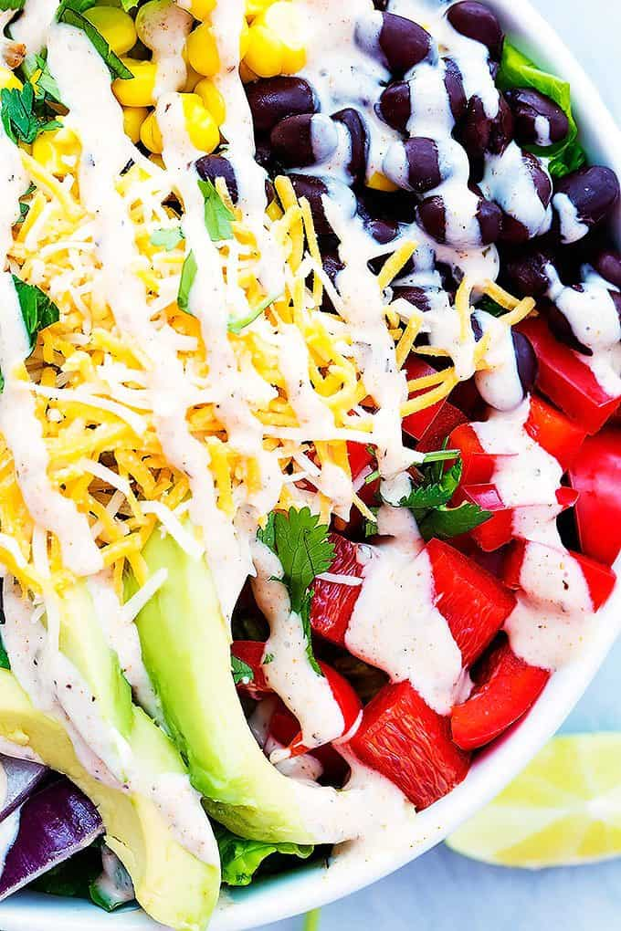 hearty and flavorful main dish southwest chicken salad with black ...