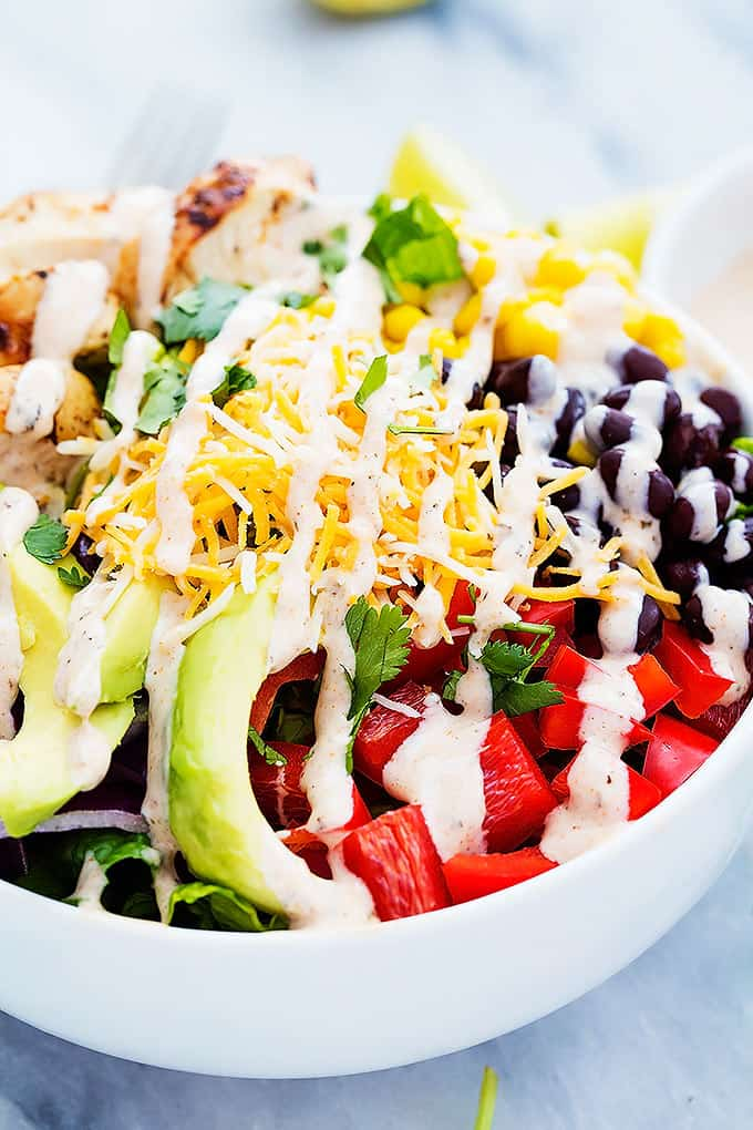 Fresh Meals Delivered >> Southwest Chicken Salad | Creme De La Crumb