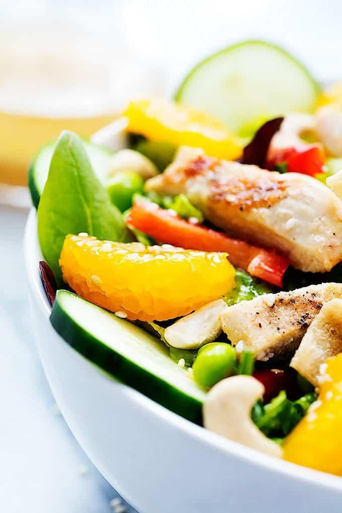 Asian Citrus Chicken Salad   Creme de la Crumb