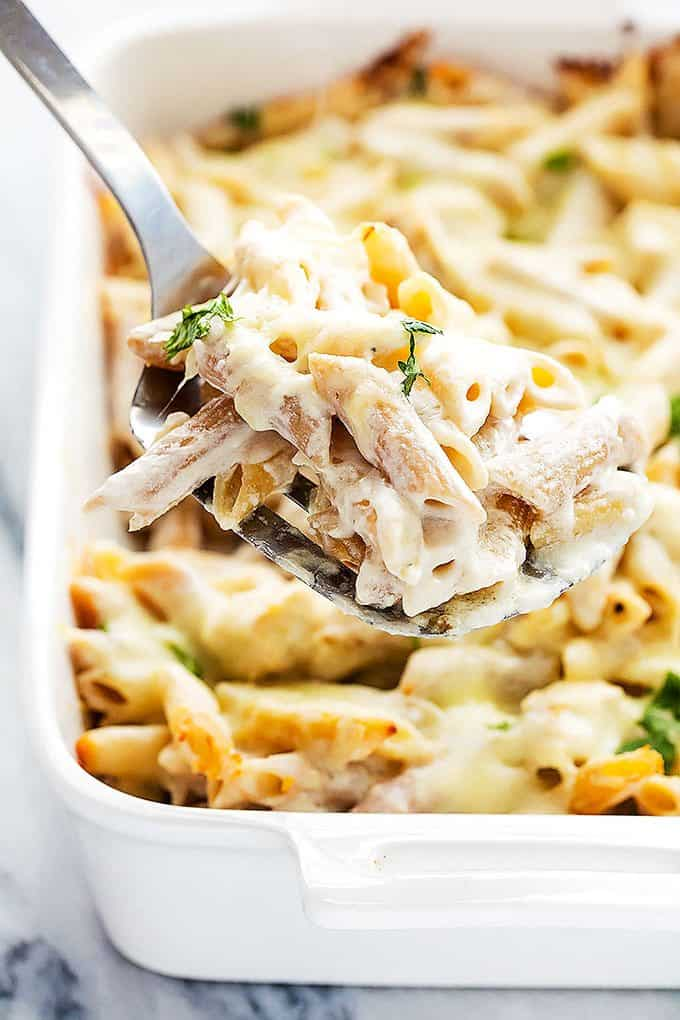 How to make chicken penne alfredo recipe