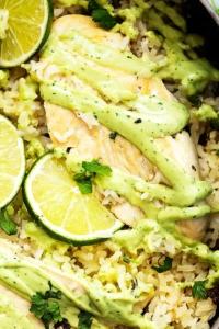 One Pot Cilantro Lime Chicken & Rice | Creme de la Crumb