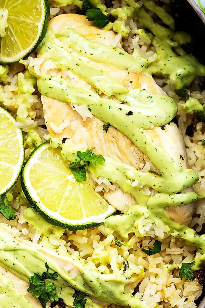One Pot Cilantro Lime Chicken & Rice
