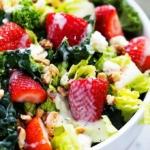 Strawberry Poppyseed & Chopped Kale Salad | Creme de la Crumb