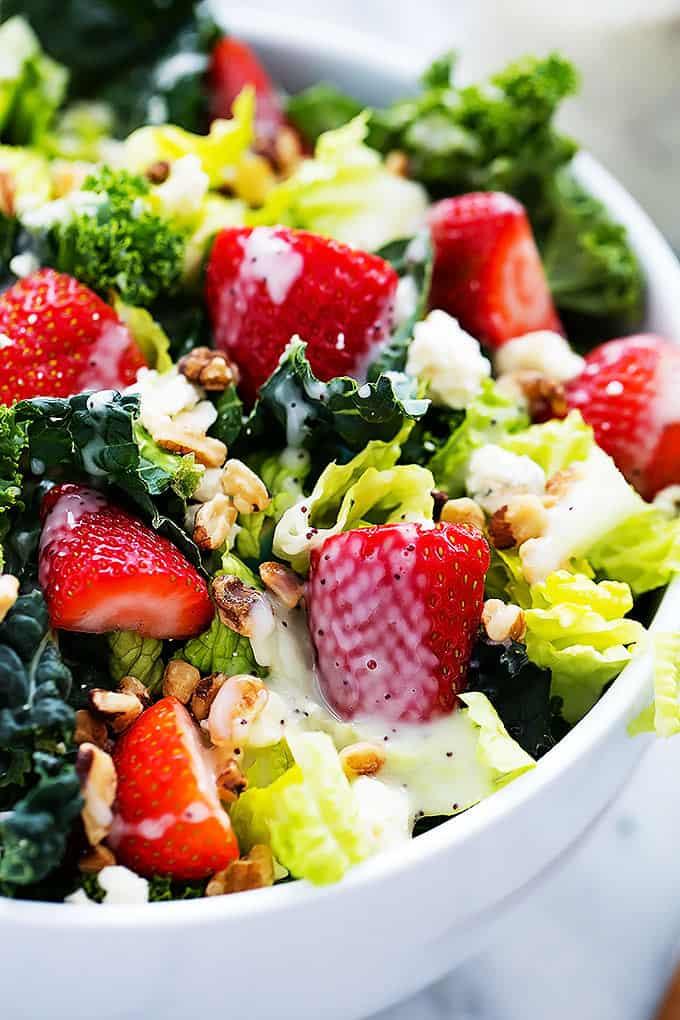 Strawberry Poppyseed & Chopped Kale Salad
