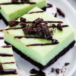 Thin Mint Cheesecake Bars