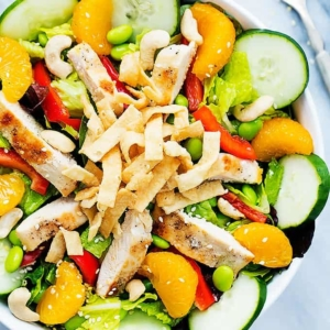 Asian Citrus Chicken Salad | Creme de la Crumb