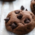 Fudgy Double Chocolate Cookies | Creme de la Crumb