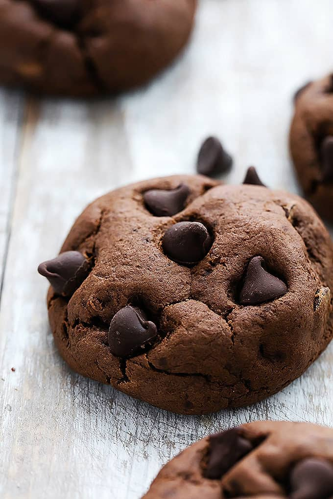 Fudgy Double Chocolate Cookies