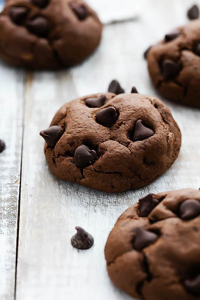 Fudgy Double Chocolate Cookies   Creme de la Crumb