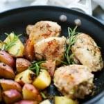 One Pan Rosemary Chicken and Potatoes | Creme de la Crumb