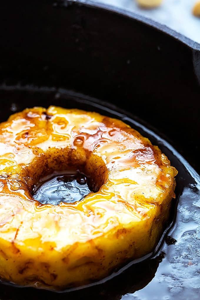 Skillet Caramelized Pineapple Sundaes Creme De La Crumb