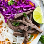 Thai Curry Steak Noodle Bowls