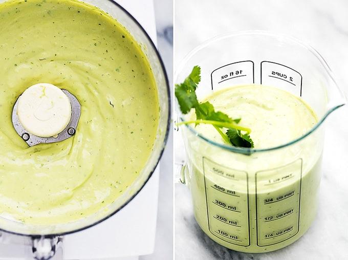 Zoodles (zucchini noodles) with Creamy Avocado Sauce | Creme de la Crumb