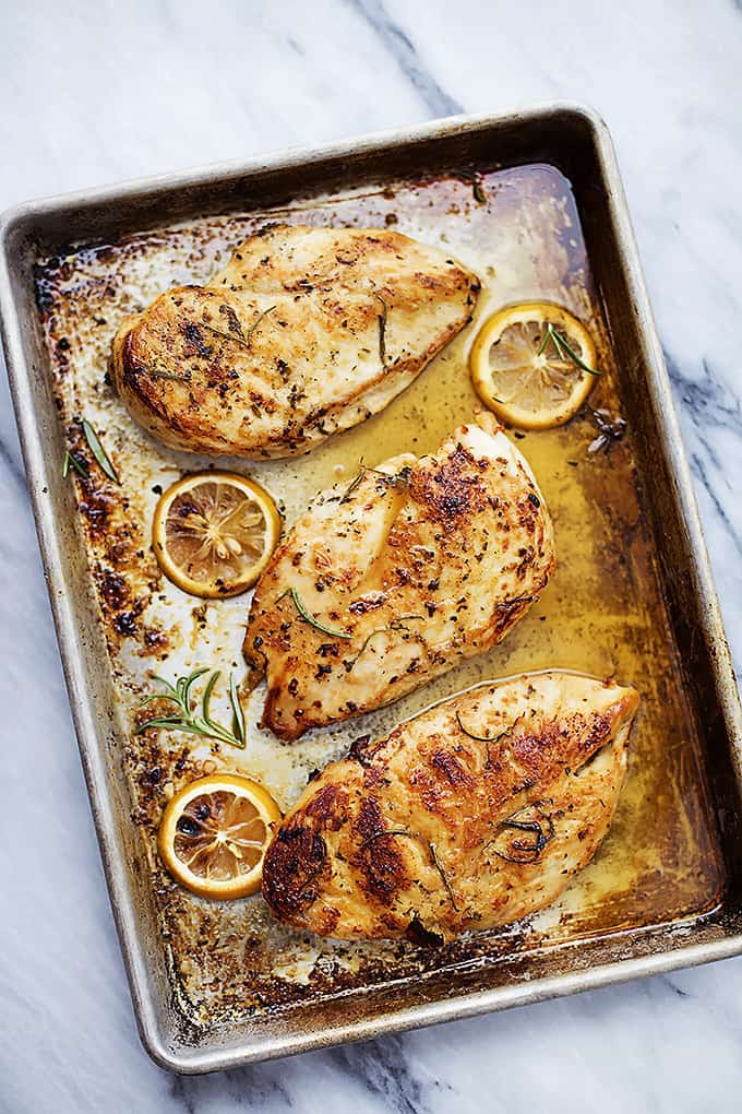 Easy Healthy Baked Lemon Chicken | Creme de la Crumb