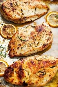 Easy Healthy Baked Lemon Chicken | Creme de la Crumb