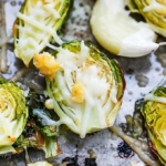 Roasted Garlic Parmesan Brussel Sprouts   Creme de la Crumb