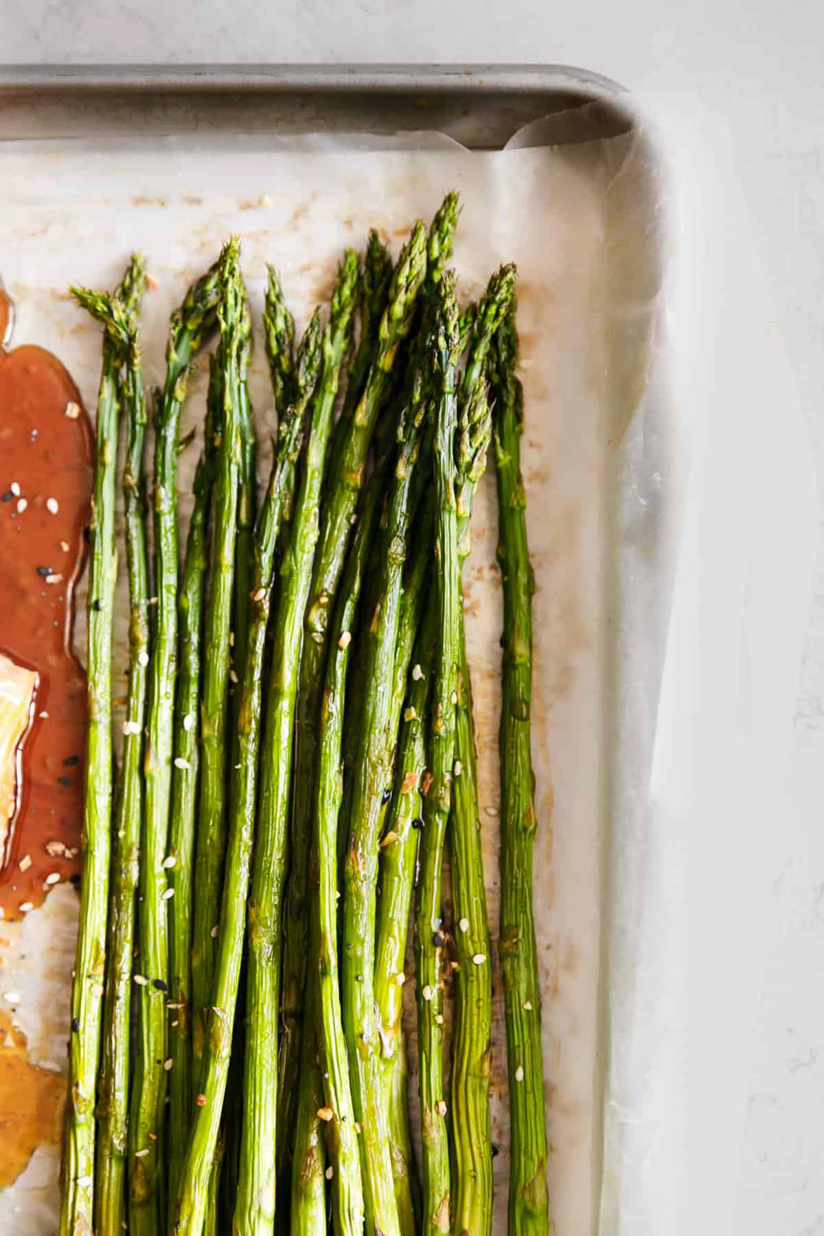Baked Sesame Glazed Salmon and Asparagus