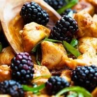 Thai Blackberry Basil Chicken   Creme de la Crumb