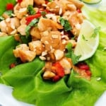 Easy Thai Peanut Chicken Lettuce Wraps