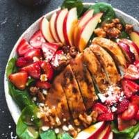Balsamic Chicken, Strawberry, and Apple Salad   Creme de la Crumb