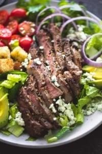 Black n' Blue Grilled Steak Salad | www.lecremedelacrumb.com