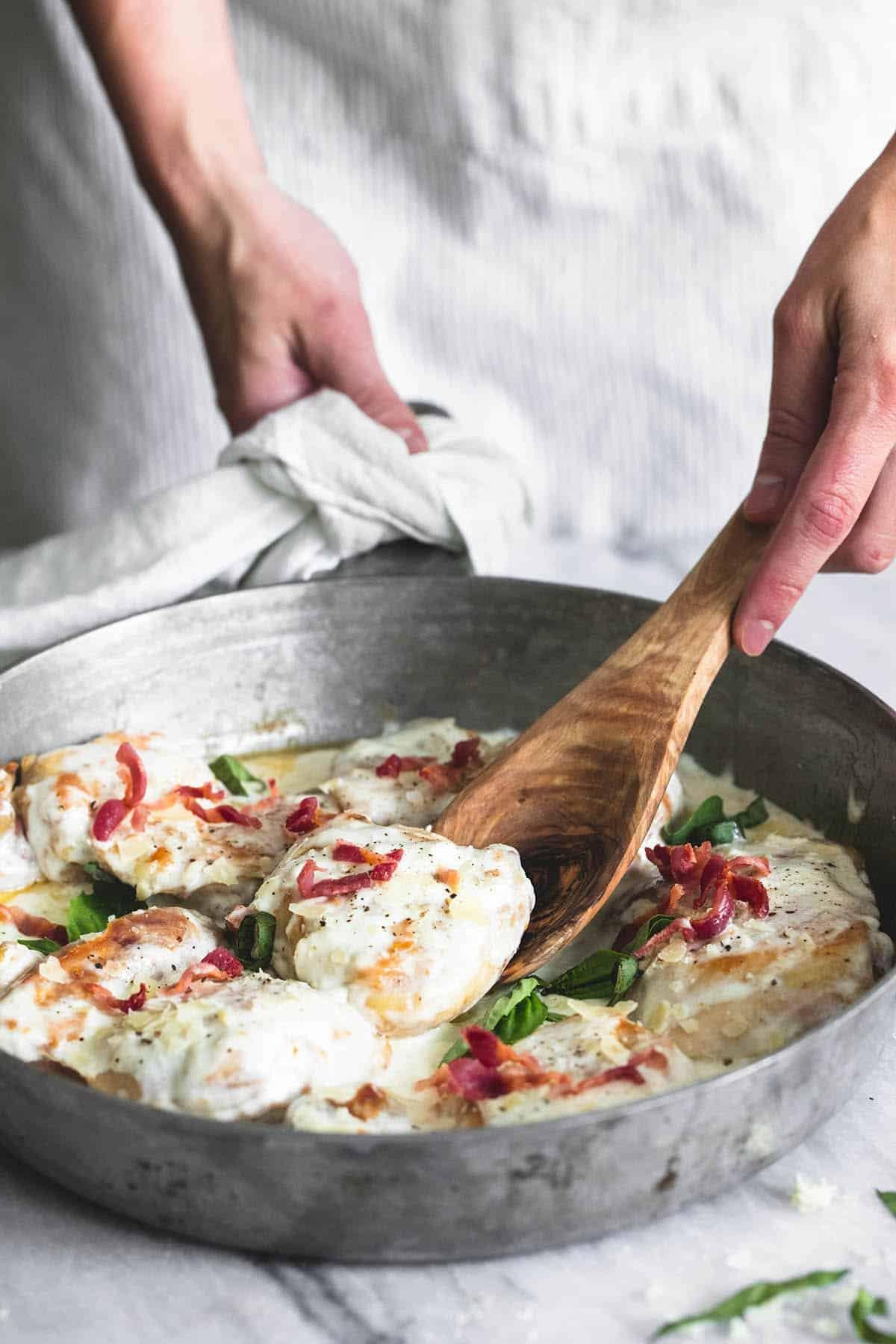 Creamy Asiago Bacon Chicken | Creme de la Crumb