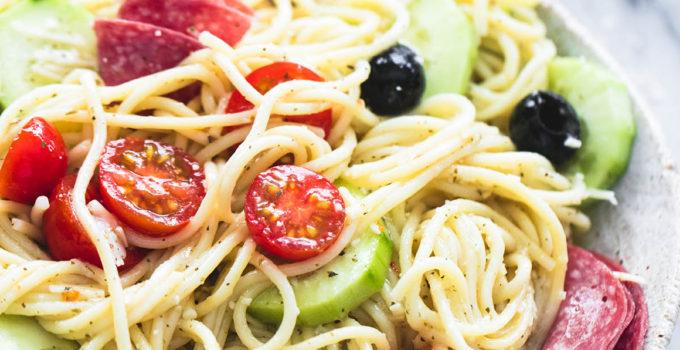 Creamy Italian Spaghetti Pasta Salad