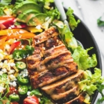Fiesta Lime Chicken Salad with Chipotle Dressing | lecremedelacrumb.com