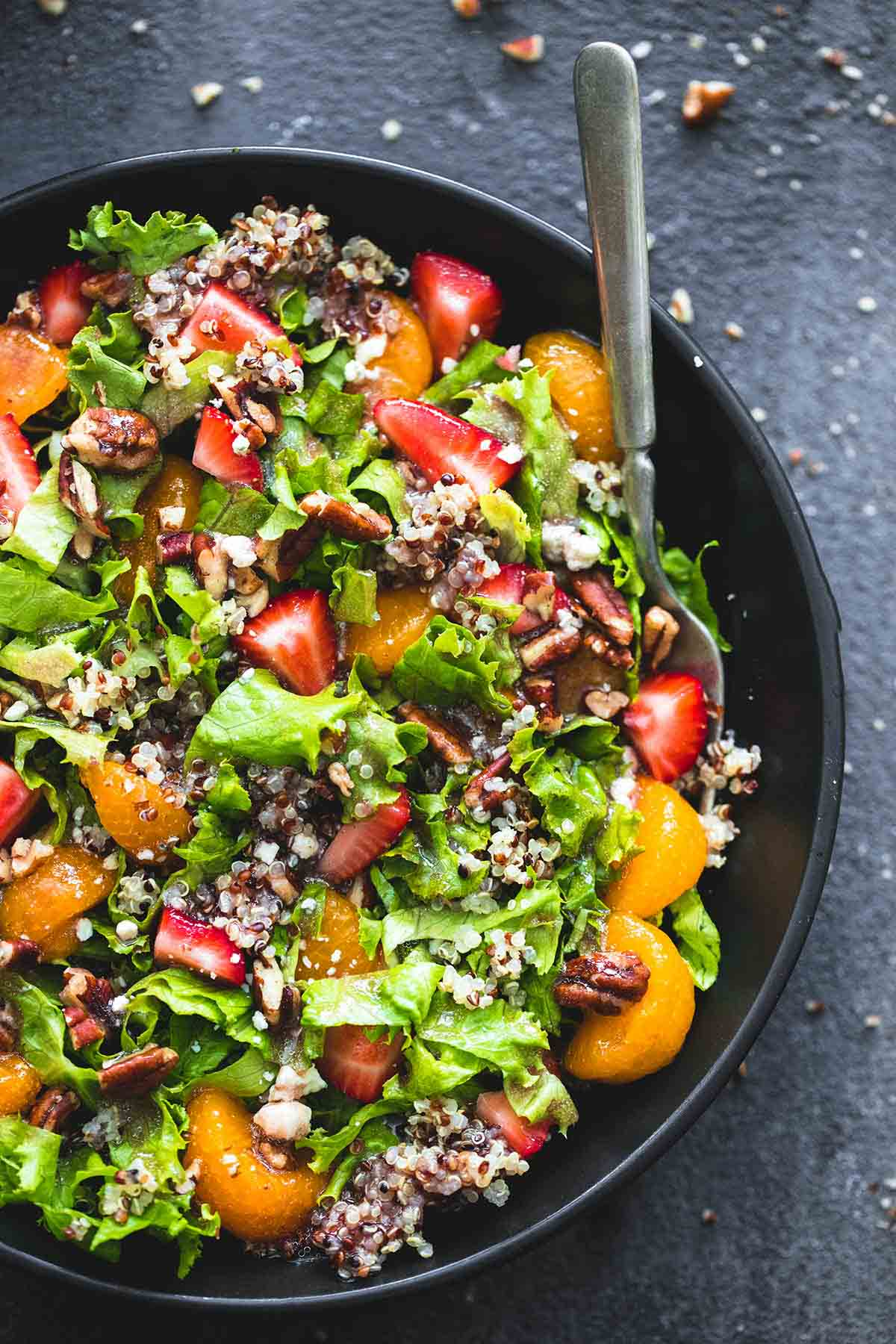 ... healthy, easy, and quick mandarin strawberry quinoa chopped salad