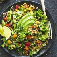 Chopped Fiesta Quinoa Salad with Cilantro Lime Dressing | lecremedelacrumb.com