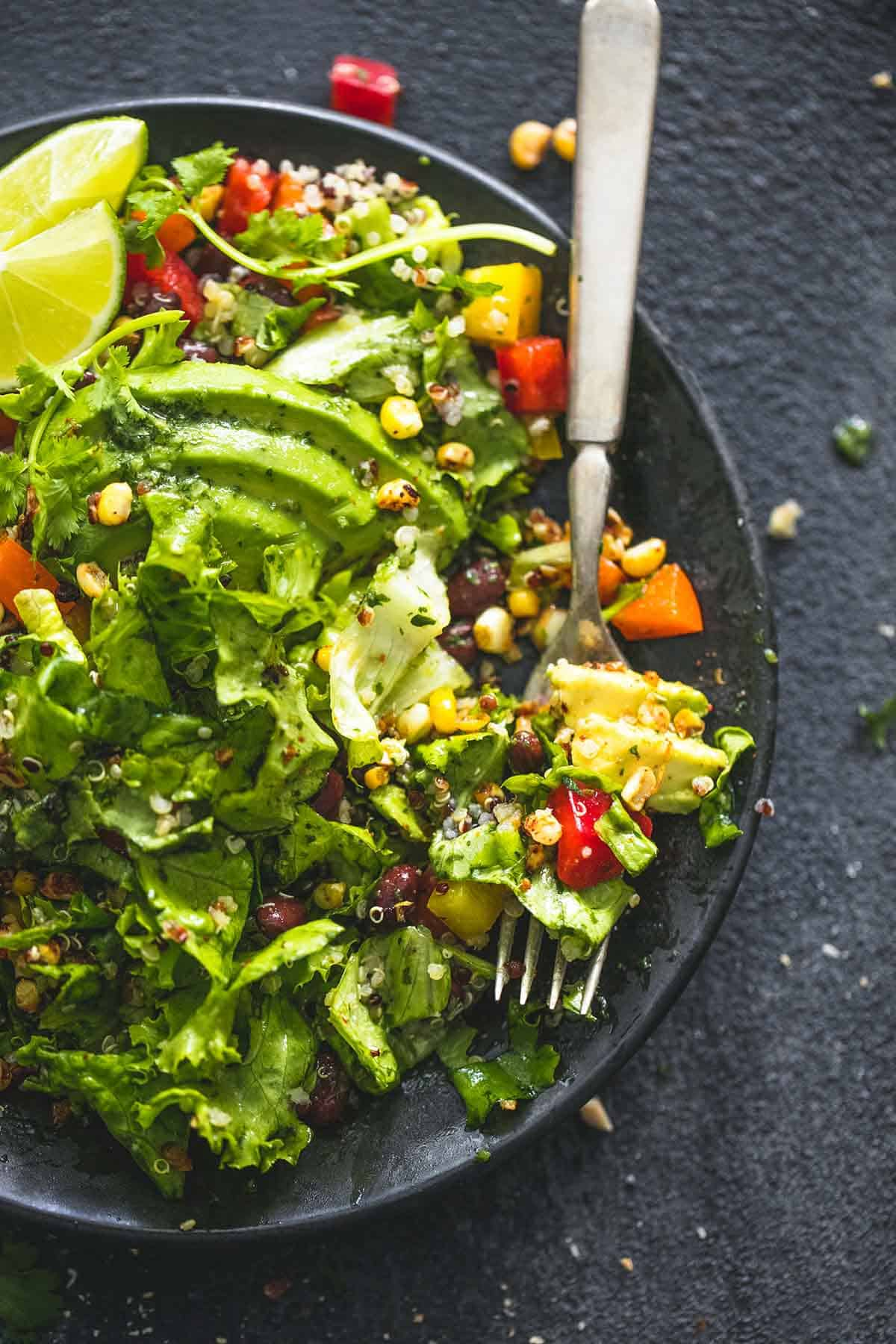 Chopped Fiesta Quinoa Salad with Cilantro Lime Dressing ...