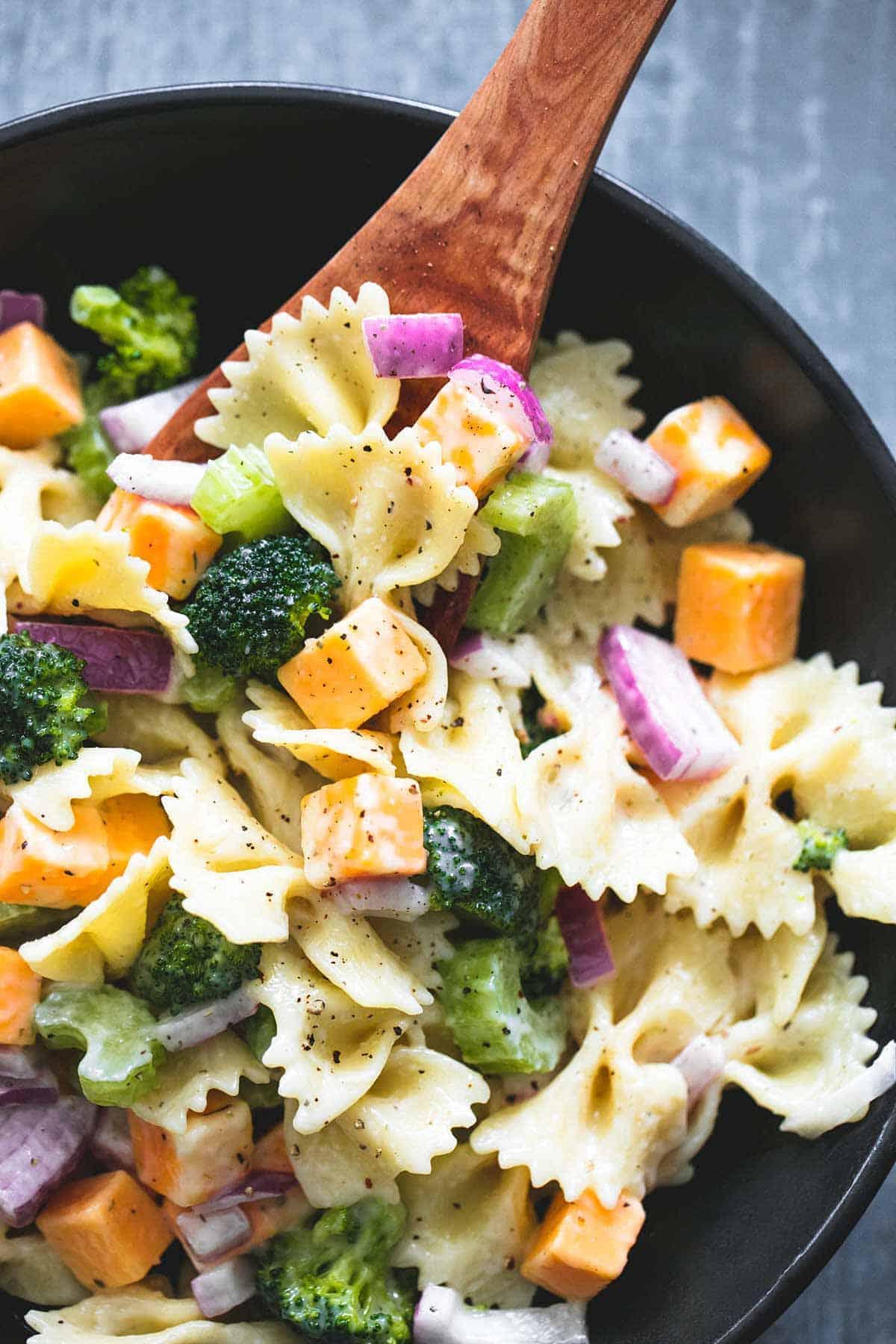 Creamy Cheddar Broccoli Salad