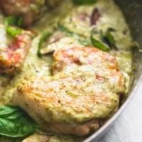 Creamy Pesto Parmesan Chicken | lecremedelacrumb.com