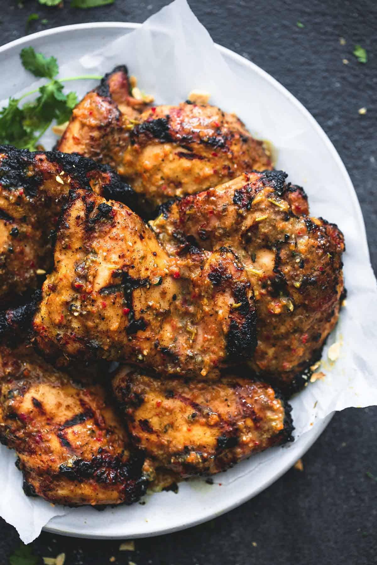 Grilled Jamaican Jerk Chicken | lecremedelacrumb.com